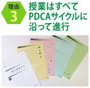 理由3 授業はすべてPDCAサイクルに沿って進行